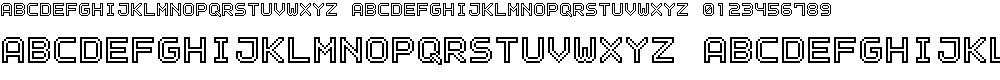 Preview image for Outline Pixel-7 Font