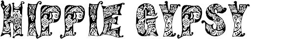 Preview image for Hippie Gypsy Regular Font