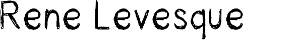 Preview image for Rene Levesque Regular Font