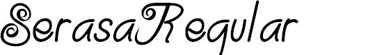 Preview image for Serasa-Regular Font