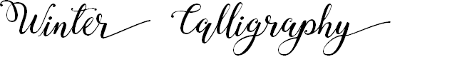 Preview image for Winter Calligraphy Font