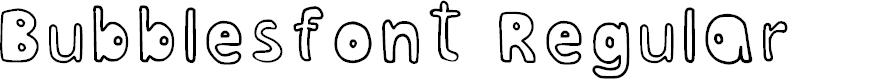 Preview image for Bubblesfont Regular Font