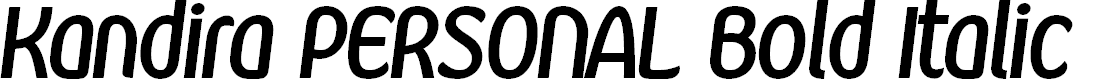 Preview image for Kandira PERSONAL Bold Italic