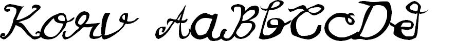Preview image for Korv Font