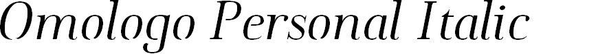 Preview image for Omologo Personal Italic