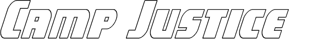 Preview image for Camp Justice Outline Italic
