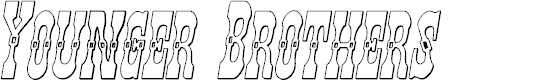 Preview image for Younger Brothers 3D Italic