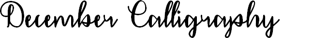 Preview image for December Calligraphy Font