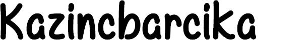 Preview image for Kazincbarcika Font