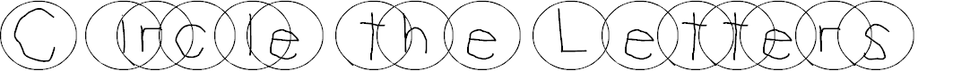 Preview image for Circle The Letters Font