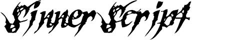 Preview image for SinnerScript-Regular Font
