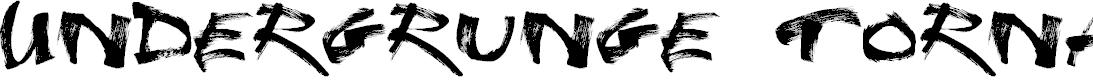 Preview image for Undergrunge Tornado Demo Font