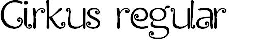 Preview image for Cirkus regular Font