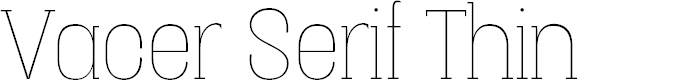 Preview image for Vacer Serif Personal Thin