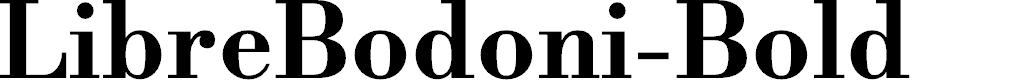 Preview image for LibreBodoni-Bold Font