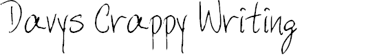 Preview image for DavysCrappyWrit Font