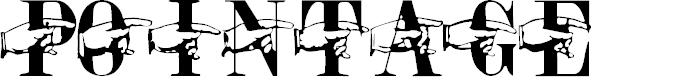 Preview image for Pointage Regular Font