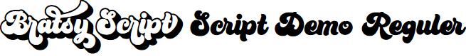 Preview image for Bratsy Script Demo Reguler Font