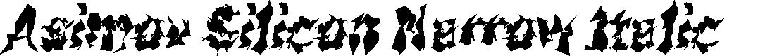 Preview image for Asimov Silicon Narrow Italic