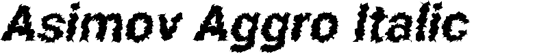 Preview image for Asimov Aggro Italic