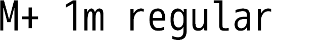 Preview image for M+ 1m regular Font