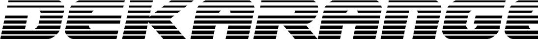 Preview image for Dekaranger Gradient Italic