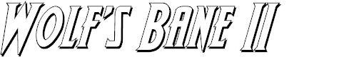 Preview image for Wolf's Bane II 3D Italic
