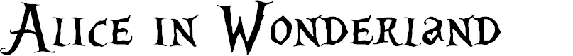 Preview image for Alice in Wonderland Font
