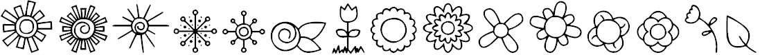 Preview image for DJB Doodled Bits Font