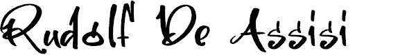 Preview image for Rudolf De Assisi Font
