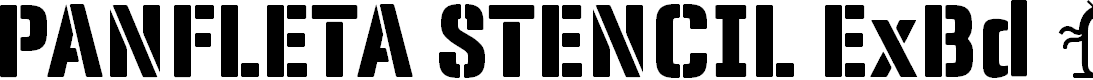 Preview image for Panfleta Stencil Extra Bold Font