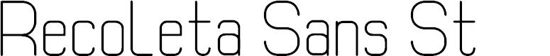 Preview image for Recoleta Sans St Font