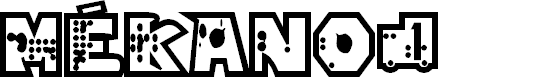 Preview image for mékano1 Font