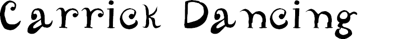 Preview image for CarrickDancing Font