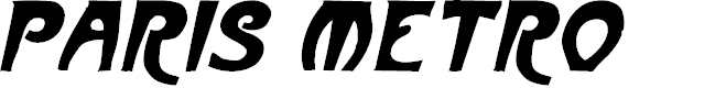 Preview image for ParisMetro Italic