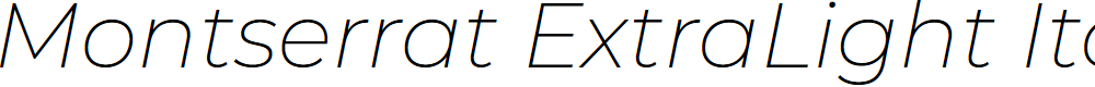 Preview image for Montserrat ExtraLight Italic