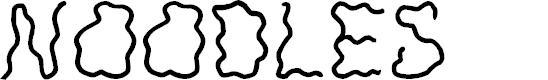 Preview image for JI Noodles Font