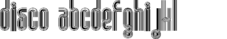 Preview image for Disco 1 Font