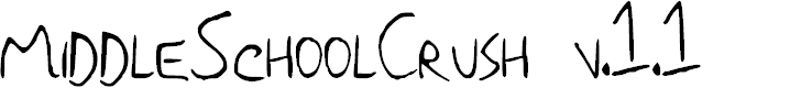 Preview image for Middle School Crush NBP Font