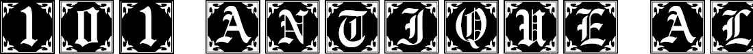 Preview image for 101! Antique Alpha Font
