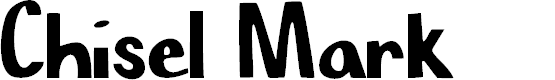 Preview image for Chisel Mark Font