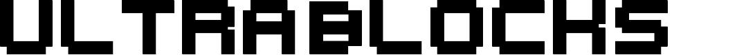 Preview image for UltraBlocks Font