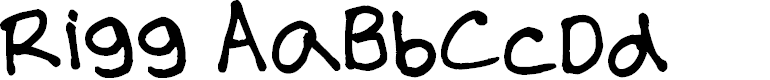 Preview image for RIGG Font