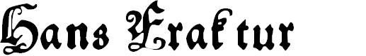 Preview image for HansFraktur Font