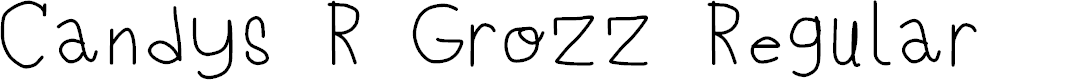 Preview image for Candys R Grozz Regular Font