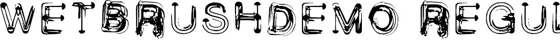 Preview image for Wetbrush_demo Regular Font