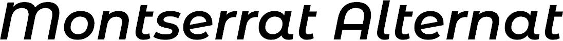Preview image for Montserrat Alternates SemiBold Italic
