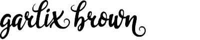 Preview image for garliXbrowN Font