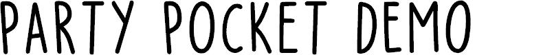 Preview image for Party Pocket DEMO Regular Font