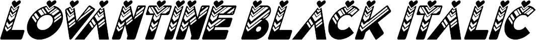 Preview image for Lovantine Black italic